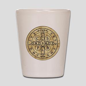 St. Benedict Medal Shot Glass