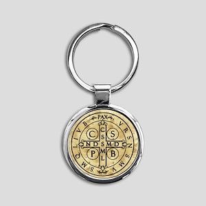 St. Benedict Medal Round Keychain
