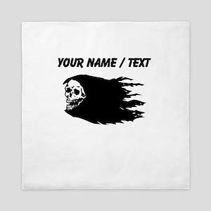 Custom Flaming Skull Queen Duvet