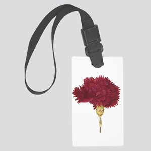 Garnet Carnation Luggage Tag