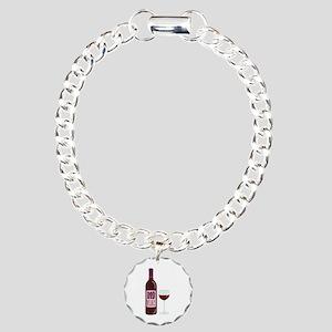 Red Wine Bottle Glass Bracelet