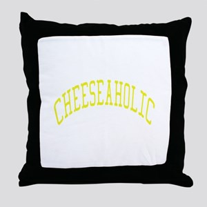 Cheeseaholic Throw Pillow