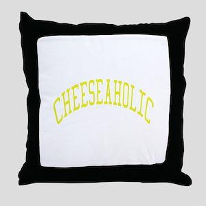 Cheeseaholic Throw Pillow