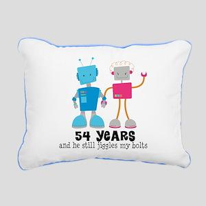 54 Year Anniversary Robot Couple Rectangular Canva