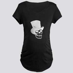 Skull With Top Hat Maternity T-Shirt