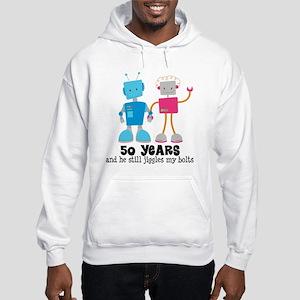 50 Year Anniversary Robot Couple Hooded Sweatshirt