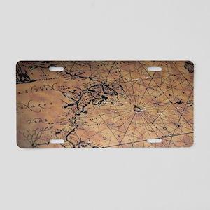 Treasure map Aluminum License Plate