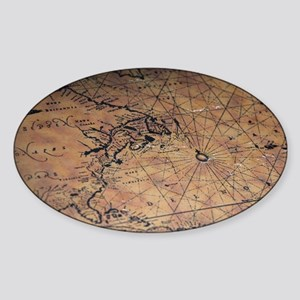 Treasure map Sticker (Oval)
