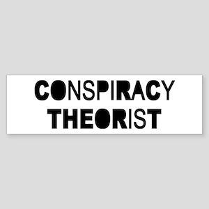 Conspiracy Sticker (Bumper)