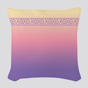 Hugs and Kisses Woven Throw Pillow