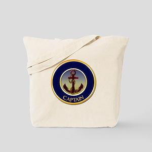 Captain Nautical Ship's Anchor Tote Bag