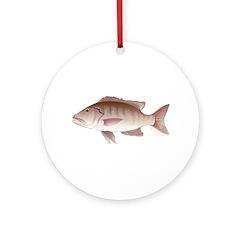 Cubera Snapper Ornament (Round)