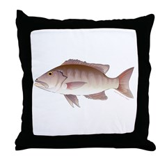 Cubera Snapper Throw Pillow