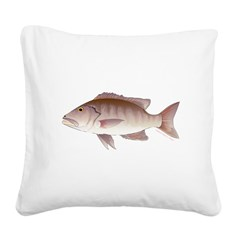 Cubera Snapper Square Canvas Pillow