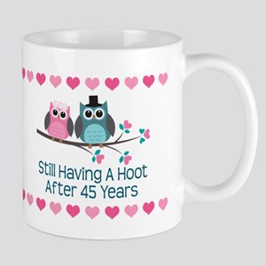 45th Anniversary Owl Gift Mugs