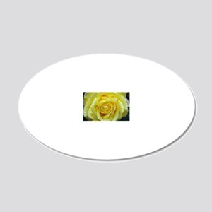 Yellow Rose 20x12 Oval Wall Decal