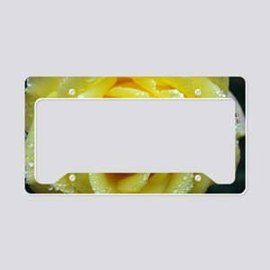 Yellow Rose License Plate Holder