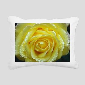Yellow Rose Rectangular Canvas Pillow