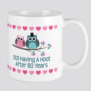 60th Anniversary Owl Gift Mugs
