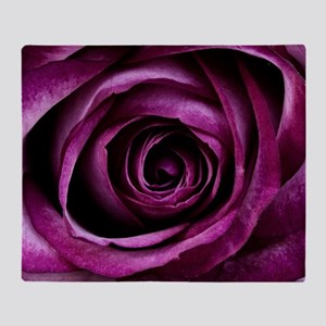 Purple Rose Throw Blanket
