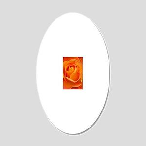 Orange Rose 20x12 Oval Wall Decal
