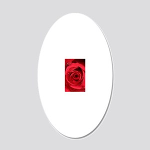 Red Rose 20x12 Oval Wall Decal