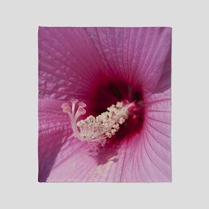 Hibiscus Flower Throw Blanket