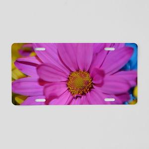 Purple Flower Aluminum License Plate