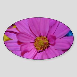 Purple Flower Sticker (Oval)