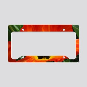 Orange Flower License Plate Holder