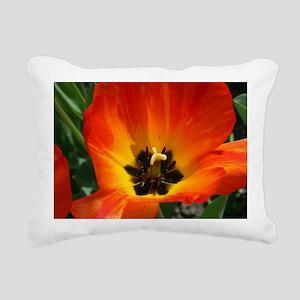 Orange Flower Rectangular Canvas Pillow