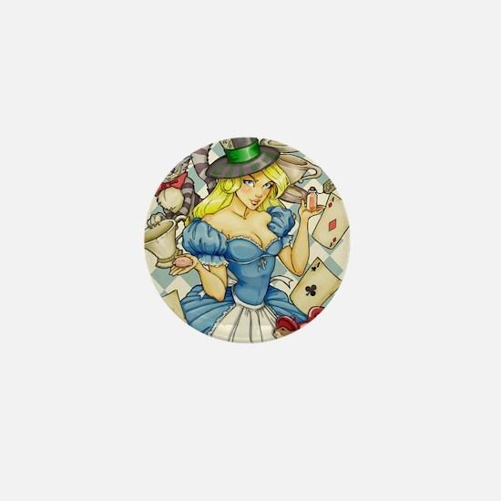 Alice's Tea Party Mini Button