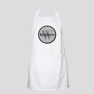 Gray Name and Initial Monogram Apron