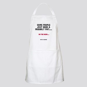 A friendly pat Apron