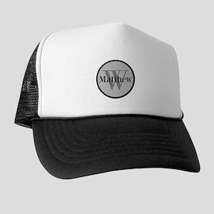 Gray Name and Initial Monogram Trucker Hat