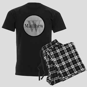 Gray Name and Initial Monogram Pajamas