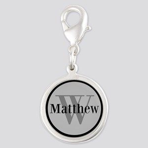 Gray Name and Initial Monogram Charms