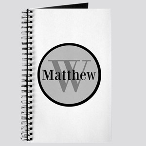 Gray Name and Initial Monogram Journal