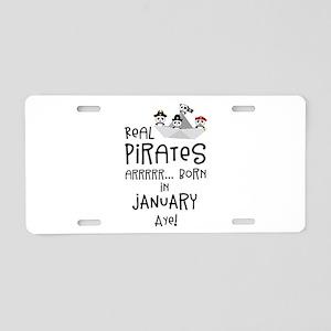 Real Pirates are born in JA Aluminum License Plate