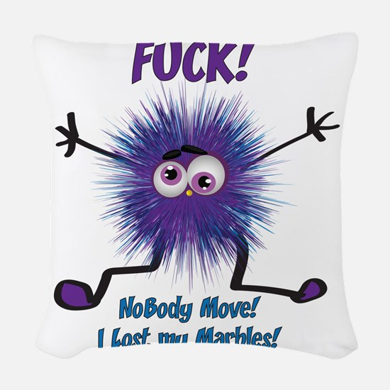 I lost my Marbles Woven Throw Pillow