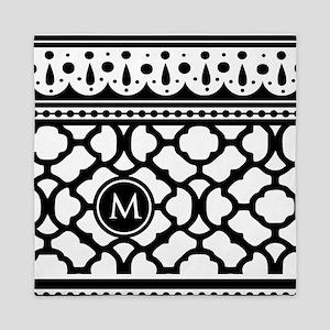 Stylish Trendy Monogram Queen Duvet