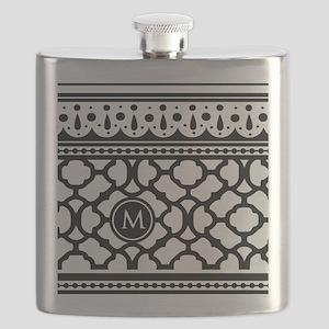 Stylish Trendy Monogram Flask