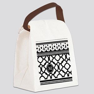 Stylish Trendy Monogram Canvas Lunch Bag