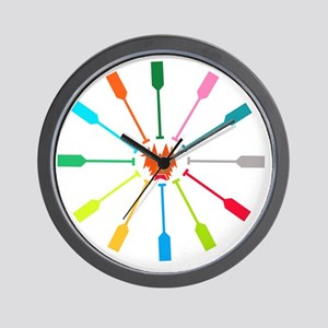 dragon like colorful paddle Wall Clock