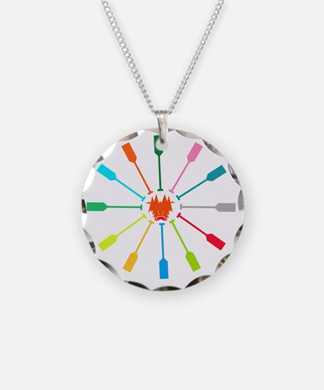 dragon like colorful paddle Necklace