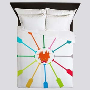 dragon like colorful paddle Queen Duvet