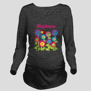 Ladybug Garden Long Sleeve Maternity T-Shirt