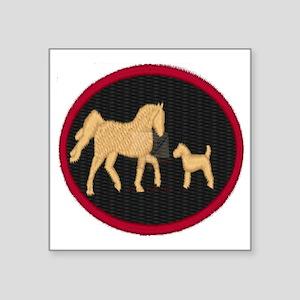 "Tails up Farm Square Sticker 3"" x 3"""