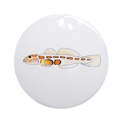 Orangesided Goby Ornament (Round)