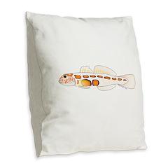 Orangesided Goby Burlap Throw Pillow